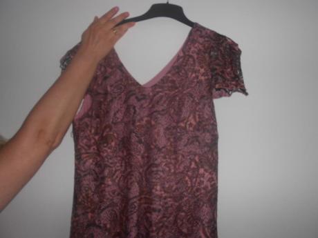 Staroružové šaty + kabátik s poštovným, 48