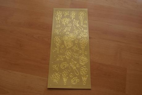 Dekorační samolepky - obrysové 2 archy zlatá,