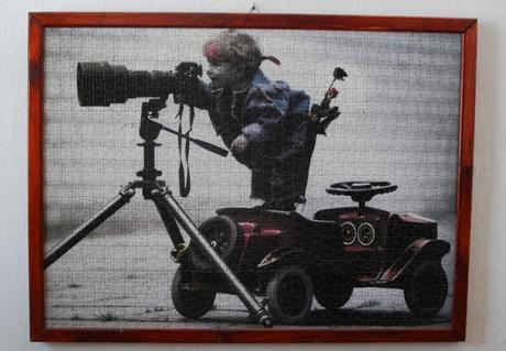 Obraz z puzzle - Chlapec - fotograf,