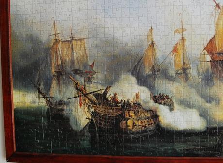 Obraz z puzzle - Námorná bitka,