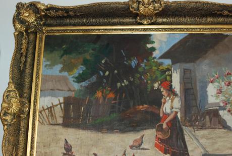 starožitný obraz - V. Zemplényi (Zemlínsky),