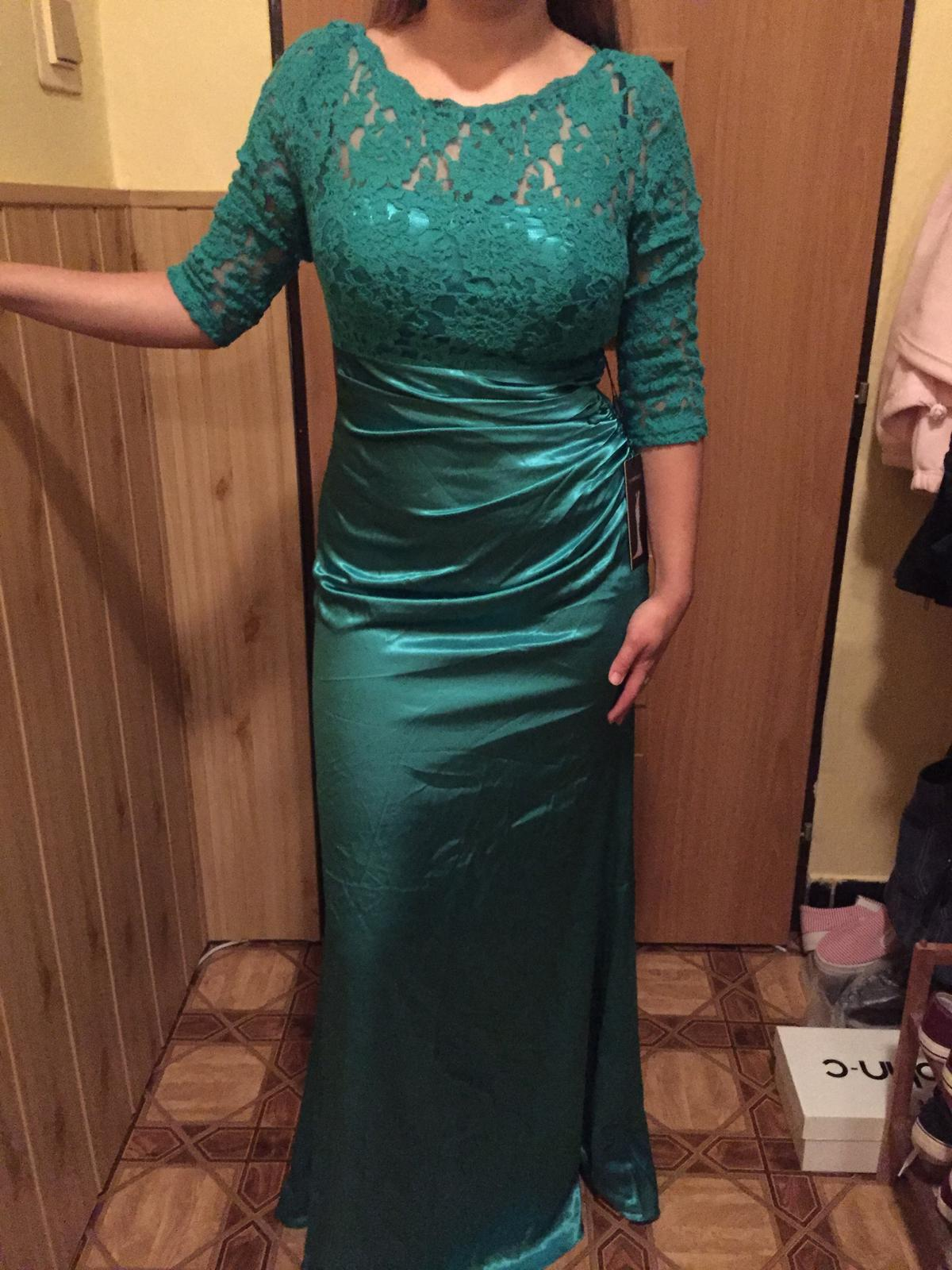 Spoločenské šaty dlhé zelené l   40 f624c17be3d