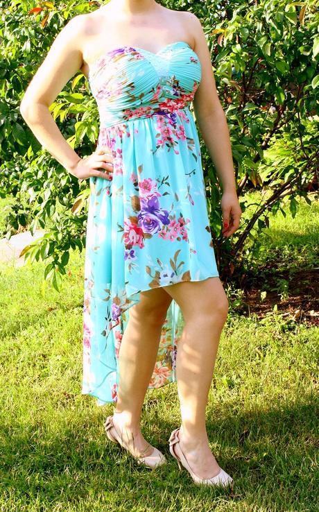 Spoločenské šaty vpredu krátke vzadu dlhé, 36