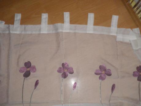2x Záclona kvety,