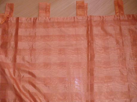 2x záclonkový záves oranžový,