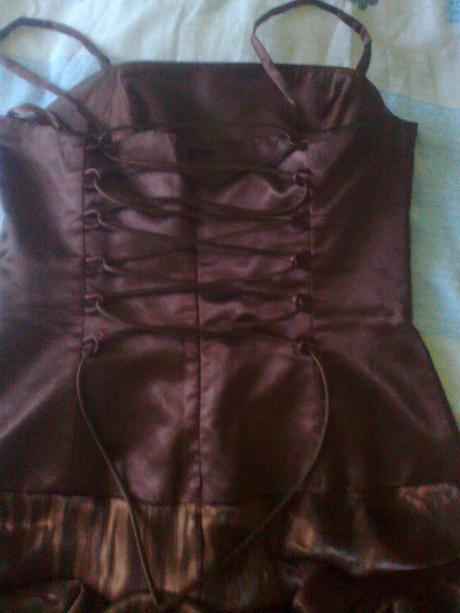 Spoločenské šaty čokoládovej farby, veľ. 38/40,M/L, 40