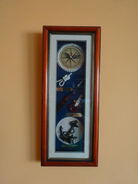 Obraz - hodiny (námořnický motiv),