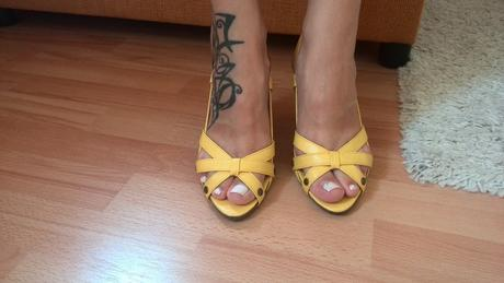 Zlte sandalky, 36