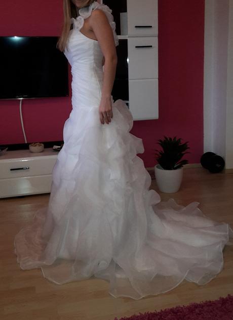 Biele svadobné šaty, veľkosť 36, 36