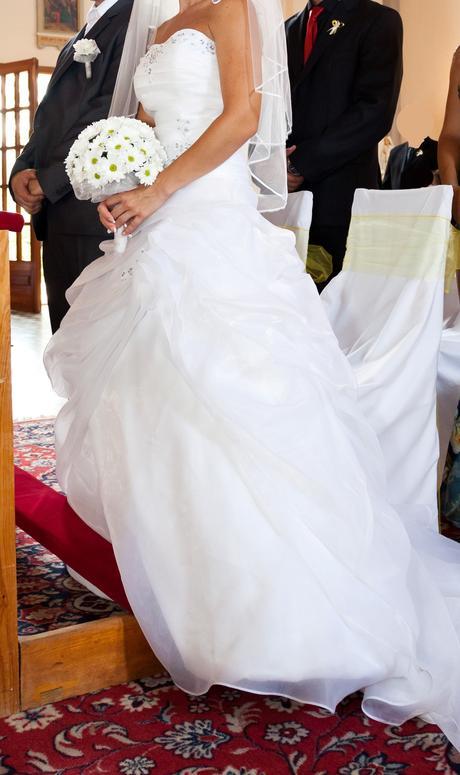 Svadobné šaty - biele, veľ.36, 36