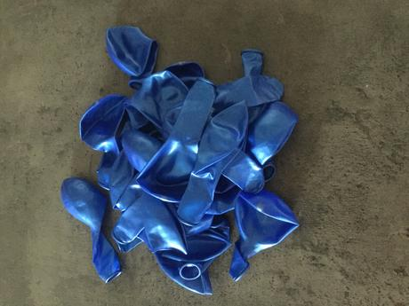 Balonky modré - tyrkysové nepoužité ,