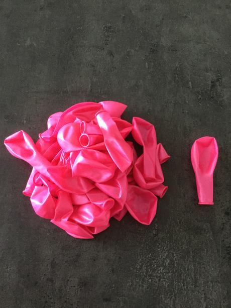 Balonky růžové latexové nepoužité,