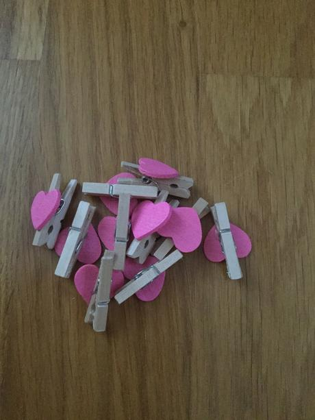 Mini kolíčky srdíčko růžové ,