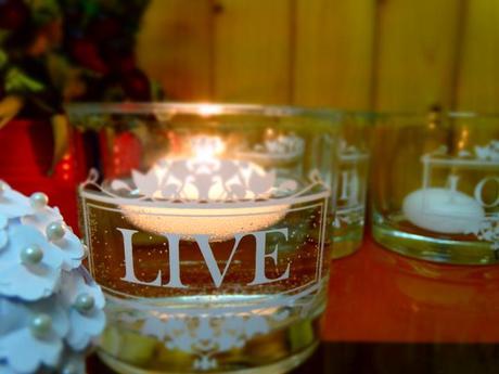 Svícny LOVE a LIVE,