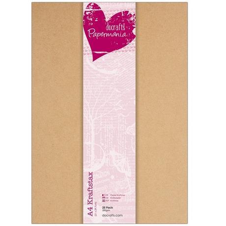 Kartonový (kraftový) papír A4 - 13 ks,