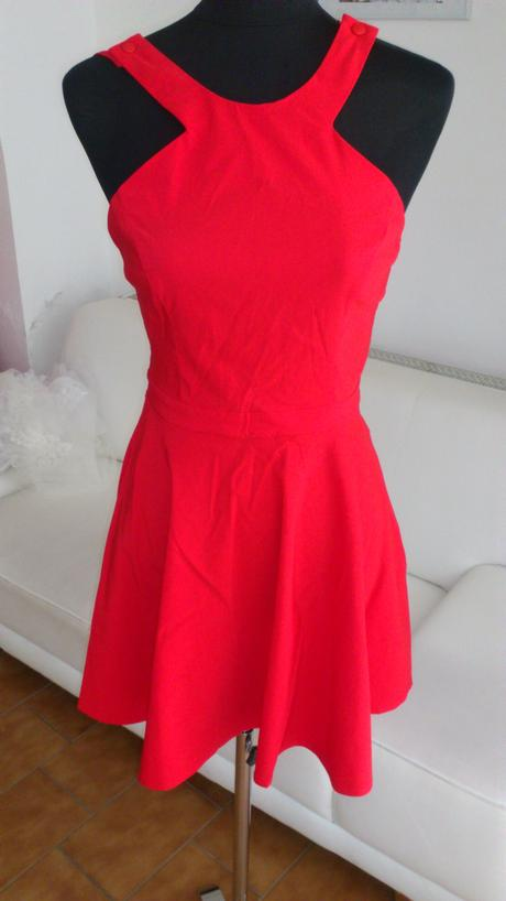 Jasně červené šaty, Asos, nepoužité, 40