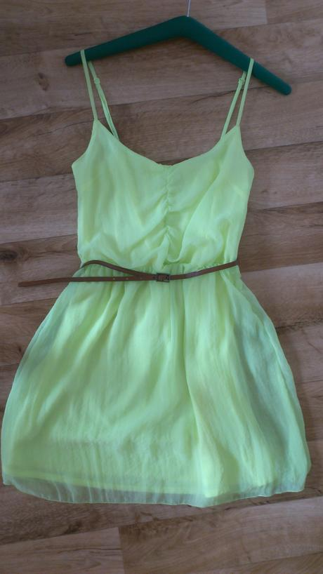 Limetkově žluté šaty,vel 36, 36