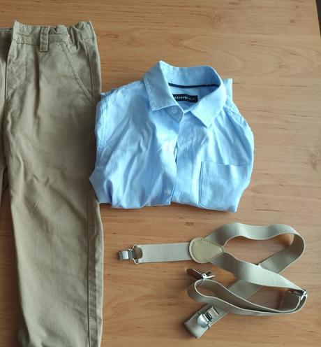 Značková košile pro dítě modrá 98, 98