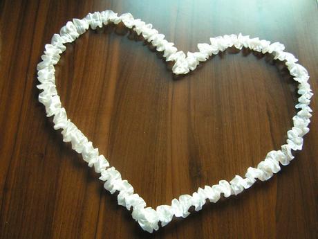 Bílé srdce - 52 cm,
