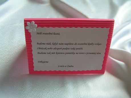 Cedulka ke svatební knize,