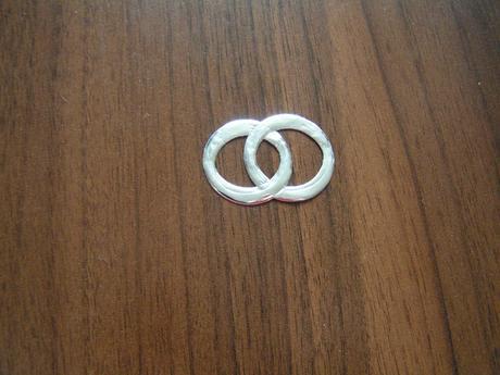 Dekorační dvojité prstýnky 25 x 35 mm ,