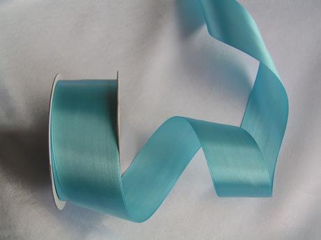 Modrá saténová stuha 40 mm,