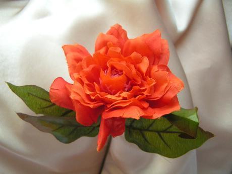 Oranžová květina - 8 cm,