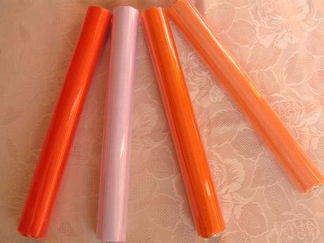 Organza - odstíny oranžové,