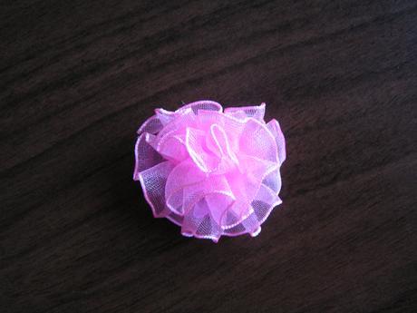 Organzová kytička - 3,2 cm,