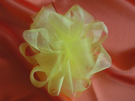 Organzové květy různých barev,