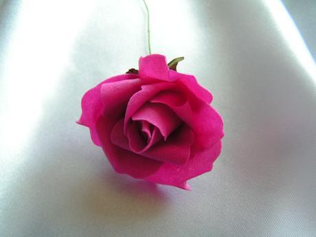Růžová pěnová růže - 5,5 cm,