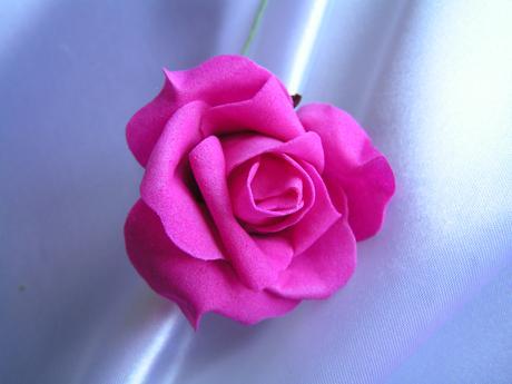 Růžová pěnová růže - 7 cm,