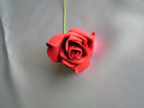 Tmavě červené pěnové růže,