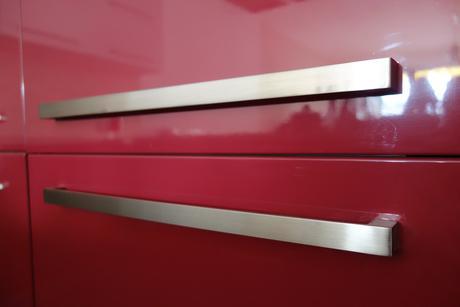 Úchytky kovové - matný chróm - 320 mm,