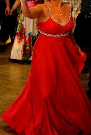 Dlhé spoločenské šaty-červené 46641b8ad11