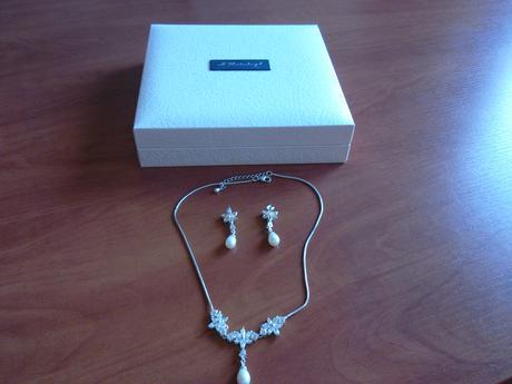 svadobný set - náhrdelník a náušnice,