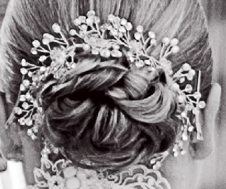 Stříbrná čelenka do vlasů,