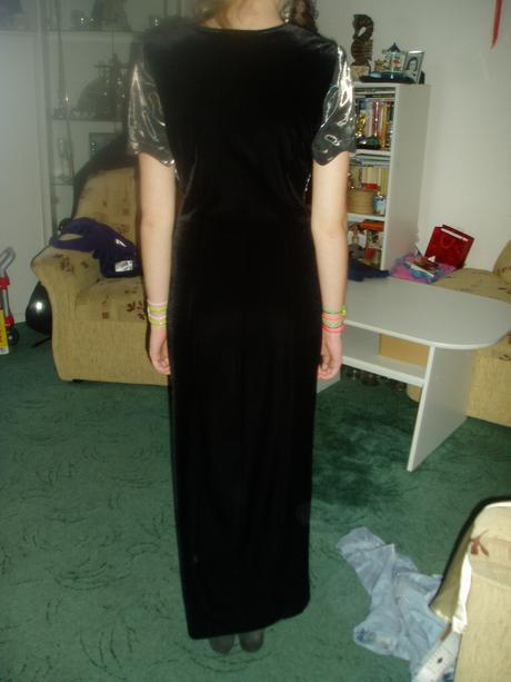 spoločenské šaty šedo čierne, 36