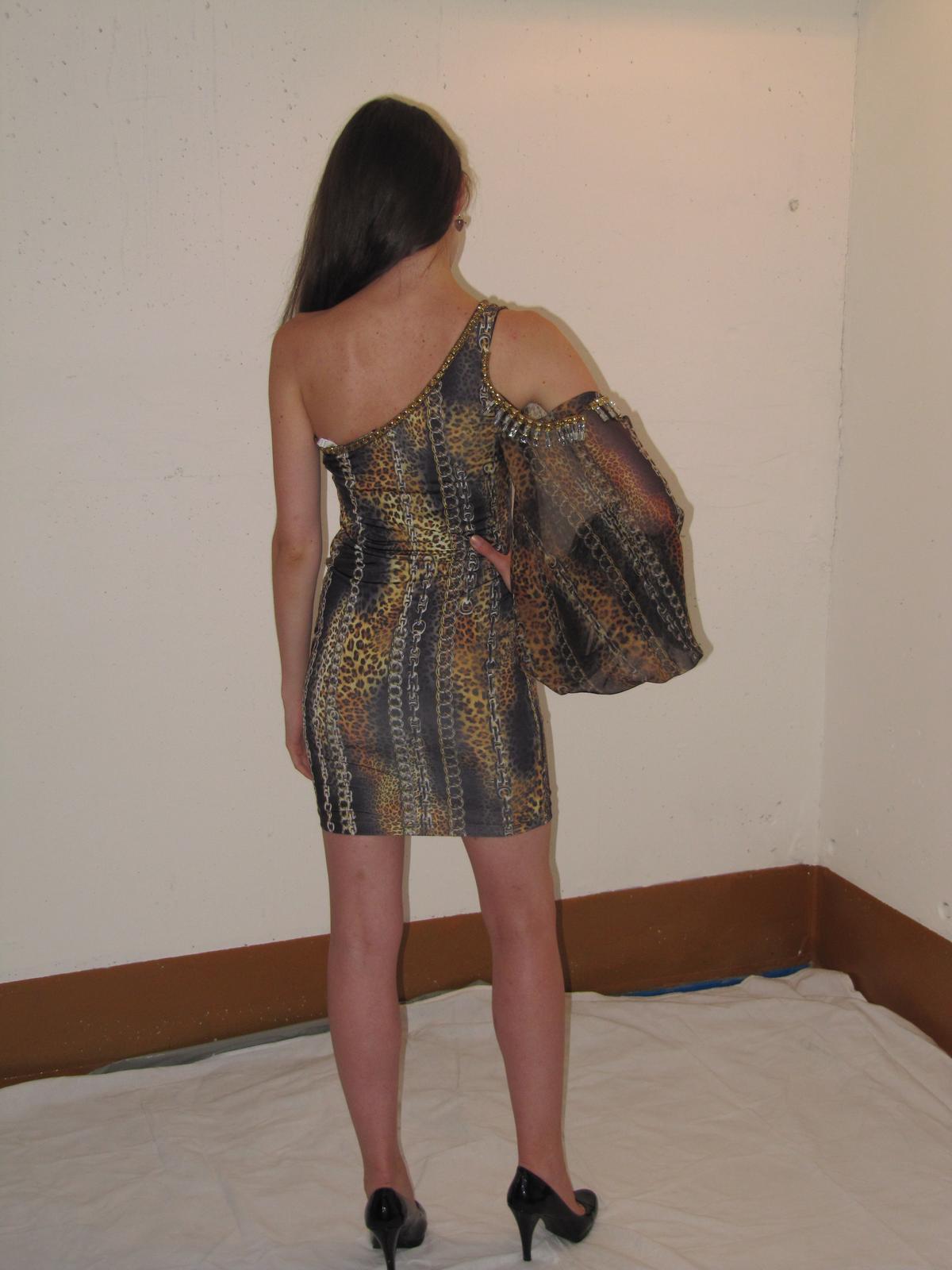 587ffedb99d Značkové šaty - vzor tiger - veľkosť 34-36
