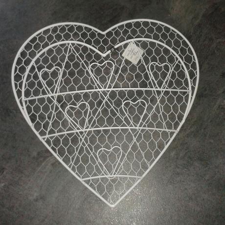 Drátěné srdce na fotky,