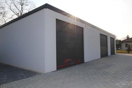 Montovaná garáž s hotovou omietkou,