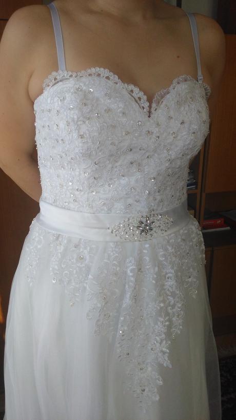 svadobné šaty velk. 42 - 44, 42