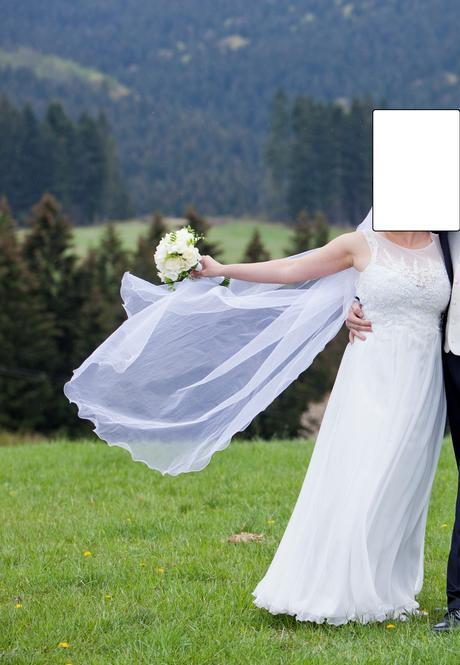 Jednovrstvovný svadobný závoj 165cm,