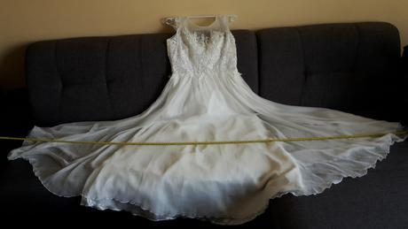 Vintage svadobné šaty pre nevesty s väšími prsiami, 42