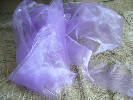 Organza na židle, krystalky - lila,