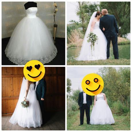 svadobne saty velkost 42-44-46, 44