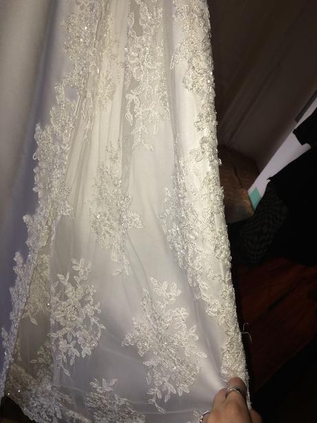 Svatební šaty vel.36-40,pro vyšší postavu, 36