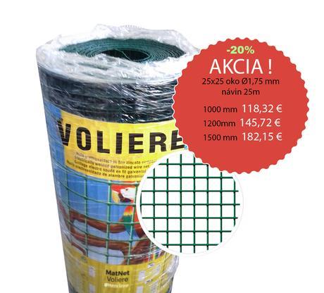 Chovateľské pletivá Zinok, Voliere 25x25mm /Ø1,7mm,