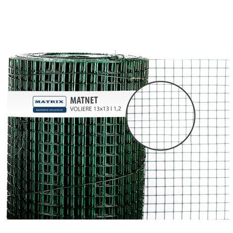 Chovateľské pletivo PVC,Voliere 13x13 mm, Ø 1,2 MM,