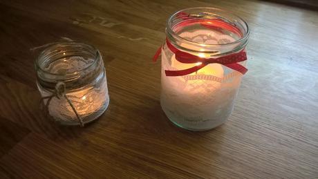 Krajkový svícen ze skleničky 15 ks,